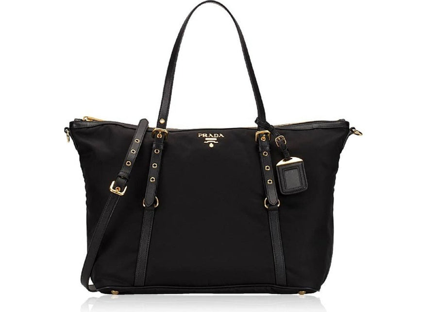 Prada Shopping Tote Tessuto Large Black