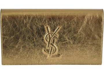 Saint Laurent Belle De Jour Clutch Large Metallic Gold