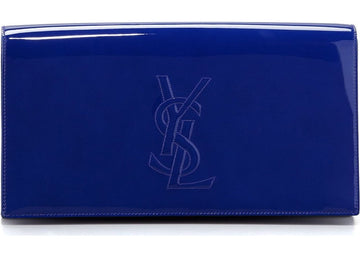 Saint Laurent Belle De Jour Clutch Neon Blue