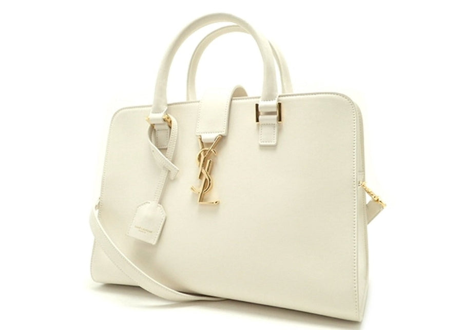 Saint Laurent Cabas Satchel White