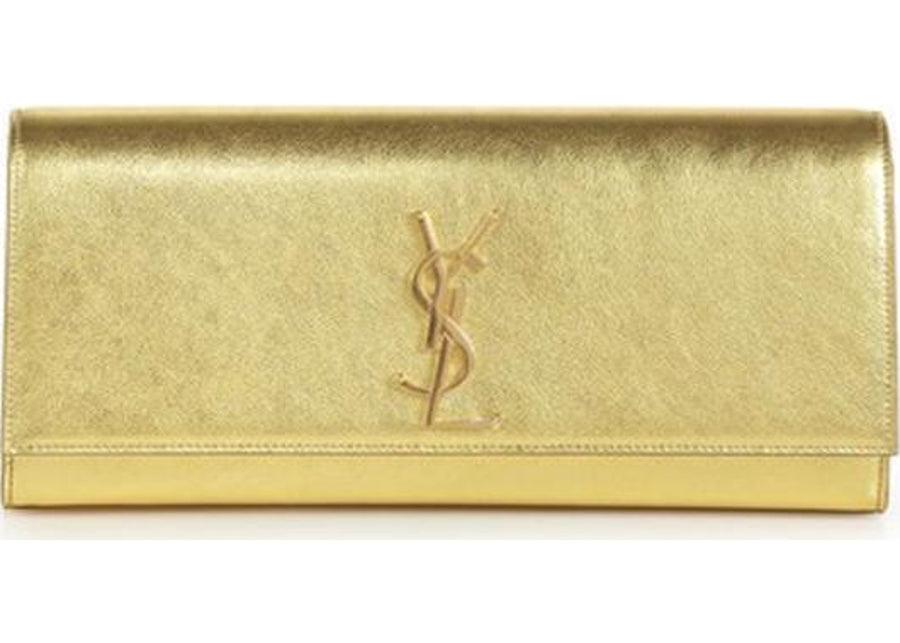 Saint Laurent Cassandre Evening Clutch Metallic Gold