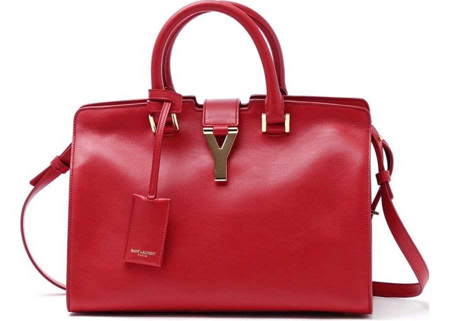 Saint Laurent Classic Cabas Y Top Handle Small Red