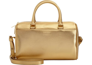 Saint Laurent Classic Sac Shoulder Bag Duffle Mini Metallic Gold