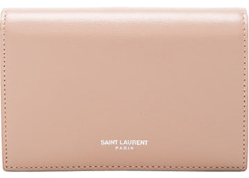 Saint Laurent Flap Wallet Large Nude Pink