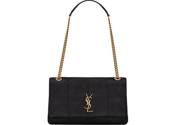 Saint Laurent Jamie Bag Carre Rive Gauche Lambskin Gold-tone Medium Black