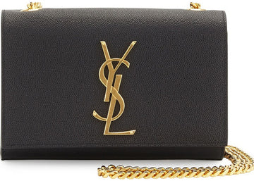 Saint Laurent Kate Crossbody YSL Pebbled Black