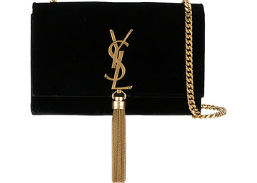 Saint Laurent Kate Tassel Wallet on Chain Tassel Black