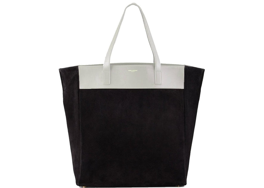Saint Laurent North South Tote Bag Reversible Black/Bone