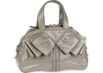 Saint Laurent Obi Bow Handbag Gray