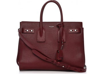 Saint Laurent Sac De Jour Small Dark Red