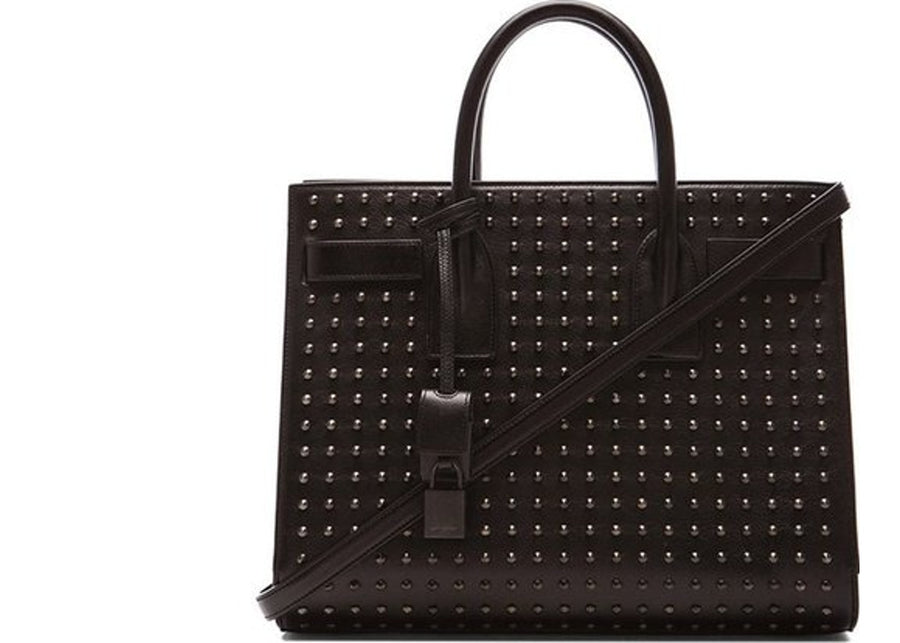 Saint Laurent Sac De Jour Top Handle Studded Black