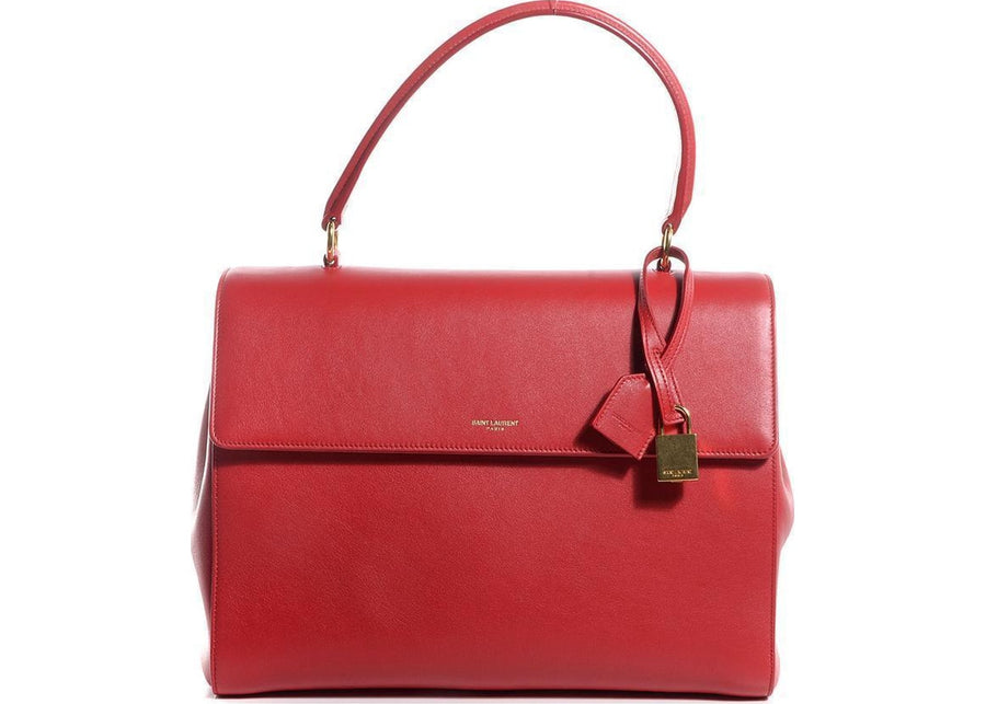 Saint Laurent Satchel Leather Red