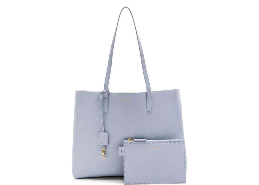 Saint Laurent Shopping With Pouch Tote Baby Blue