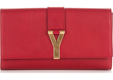 Saint Laurent Y Clutch Large Red