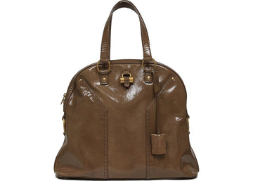 Saint Laurent Y Muse Handbag Oversized Brown