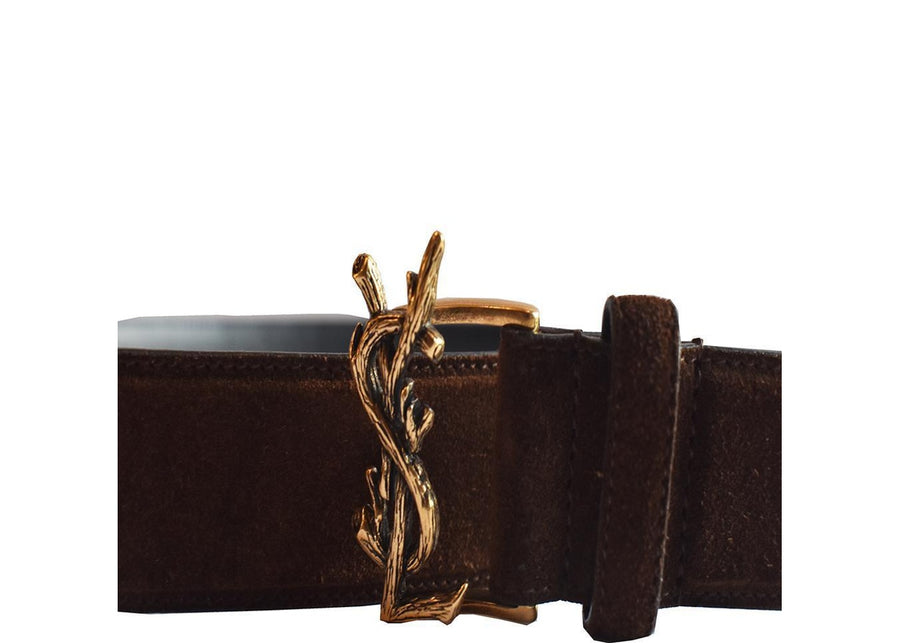 Saint Laurent YSL Belt Brown