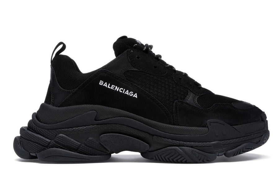 Authentic Balenciaga Triple S Triple Black (2018 Reissue) (Nondistressed)