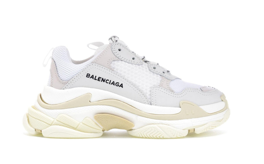 Authentic Balenciaga Triple S White (W) (2018 Reissue)