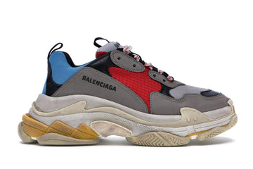 Authentic Balenciaga Triple S Grey Red Blue (2018 Reissue)