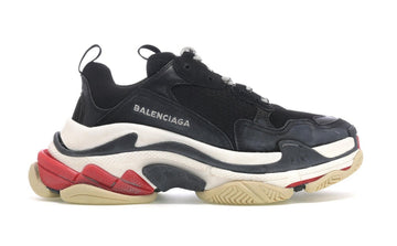 Authentic Balenciaga Triple S Black White Red (2018 Reissue)