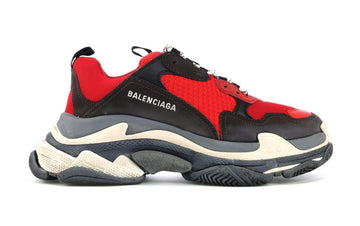 Authentic Balenciaga Triple S Red Black (Pre-Distressed)