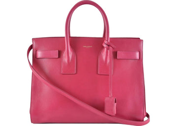 Saint Laurent Classic Sac De Jour Satchel Small Fuschia