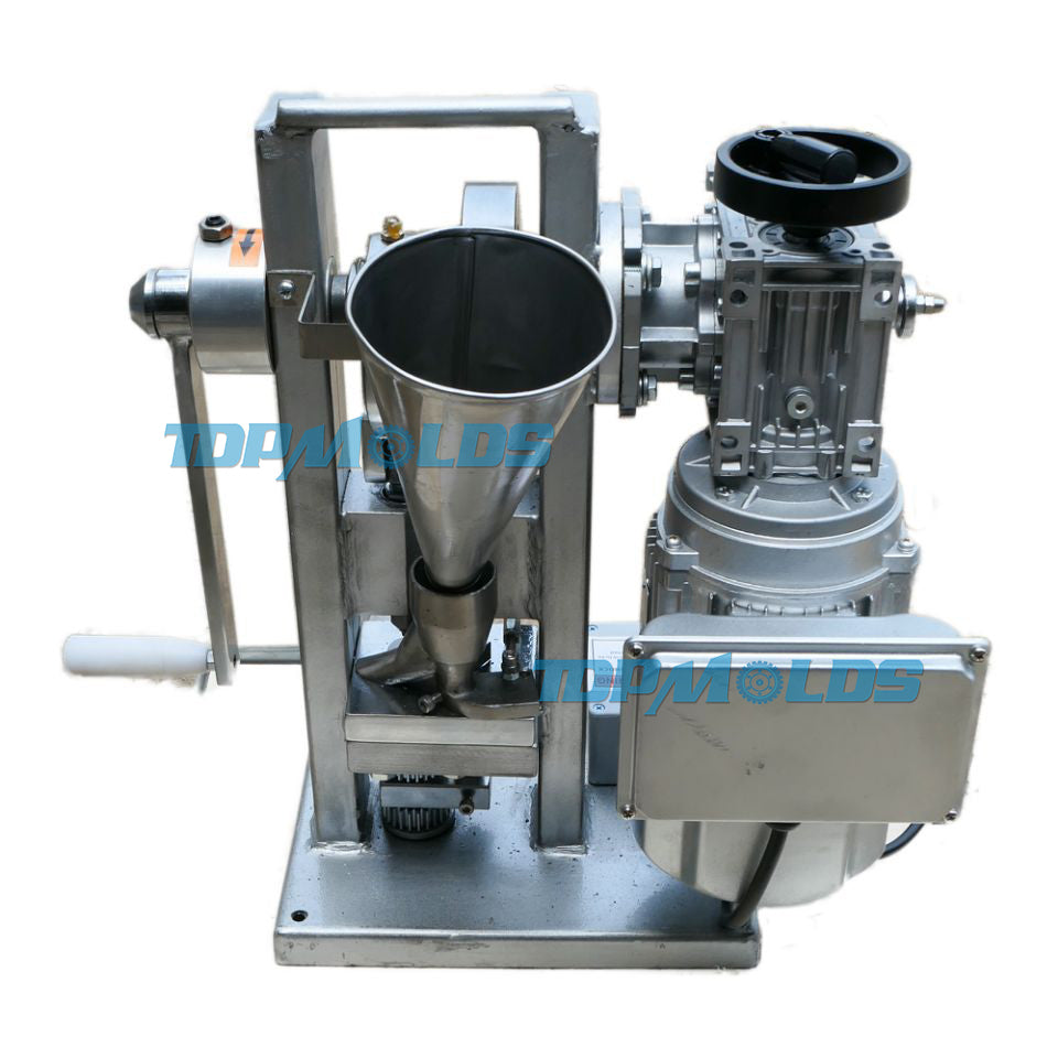 THDP-3 Electric Single Punch Sugar Tablet Press Die Machine Pressing  Machine Motor Driven and Handle Candy Stamping Maker 3 Ton Pressure