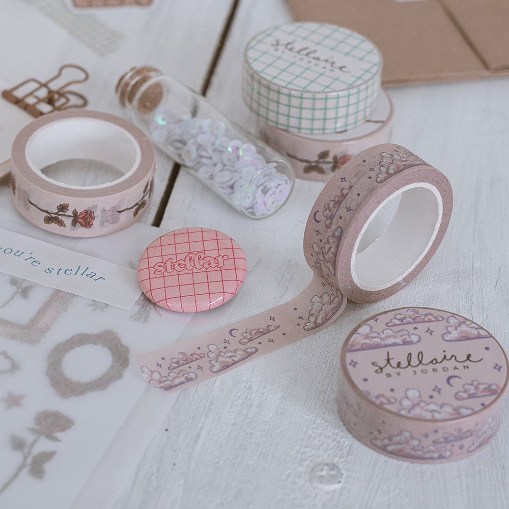 cloud washi tape