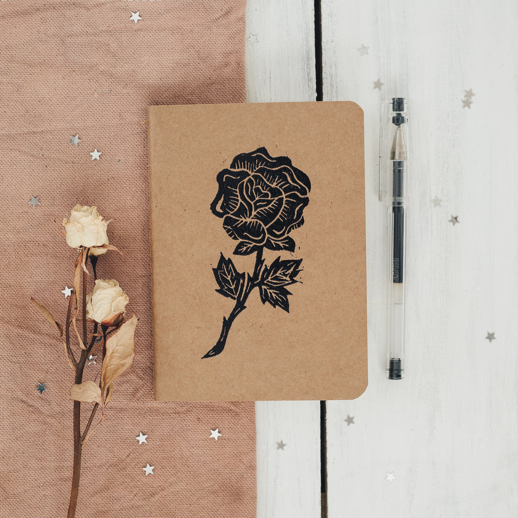 rose notebook in black