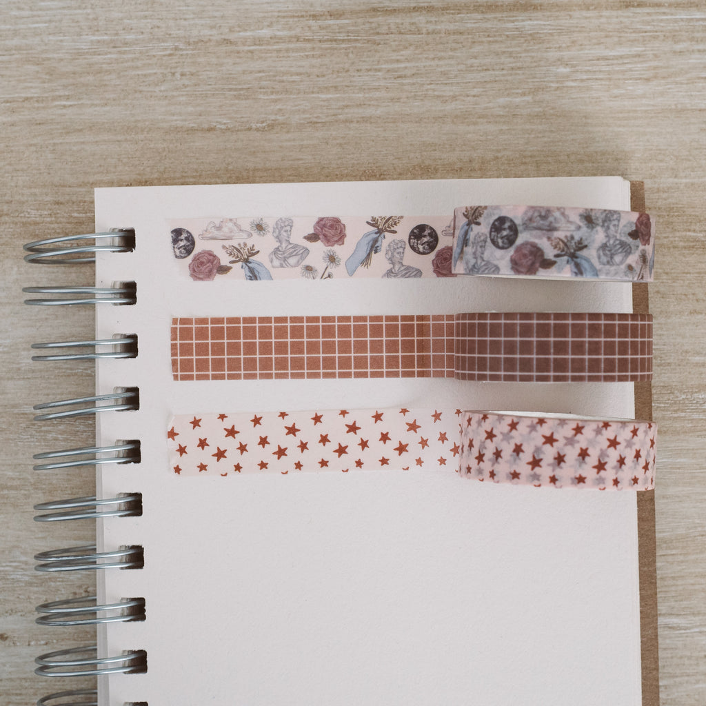 brown grid washi tape