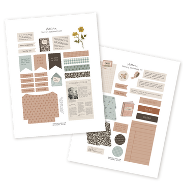 Literary Stationery Printable Kit