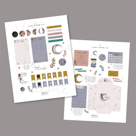 lunar journal printable kit