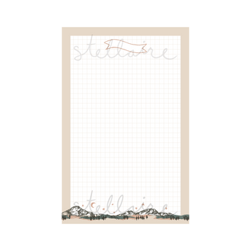 Mountain Note Paper Printable