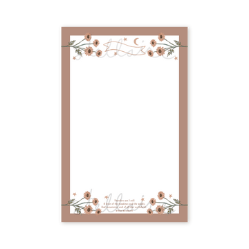 Floral Note Paper Printable