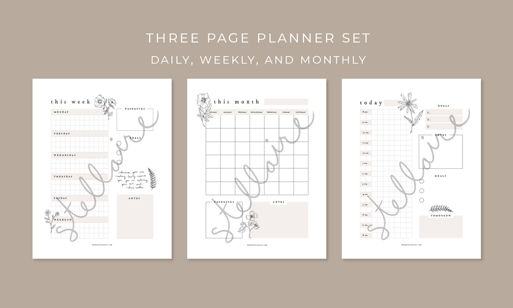 Wildflower Printable Planner Set
