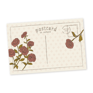 Rose Postcard Printable