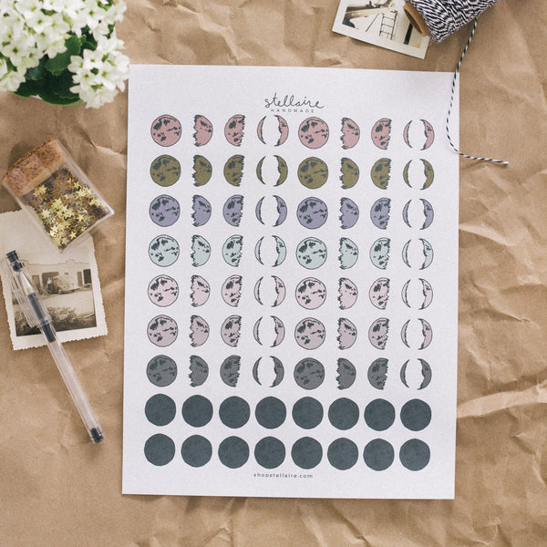 moon phases printable