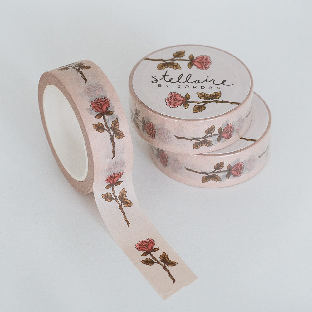 rose washi tape