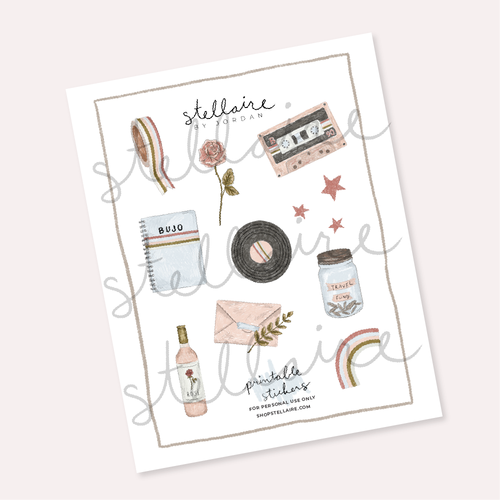 picture regarding Stickers Printable named daydreamer printable stickers