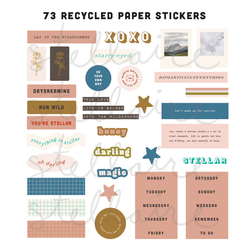 typography sticker set