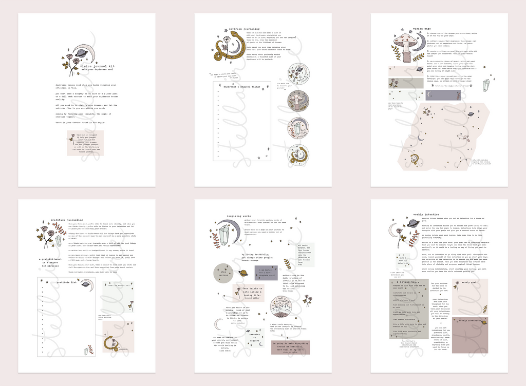 vision journal kit (printable)