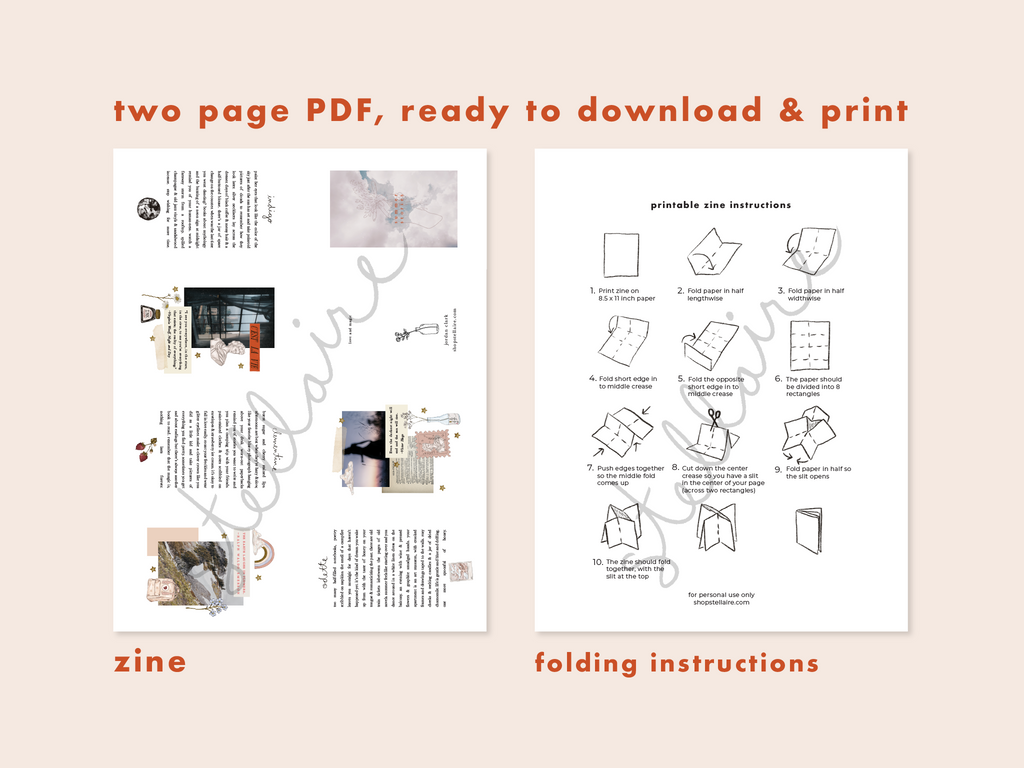 printable art zine