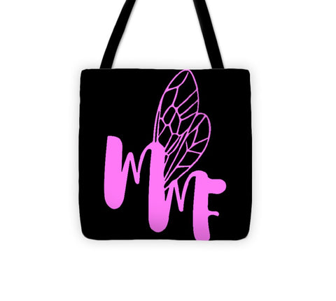 Match My Fly  -Black/Pink Tote Bag