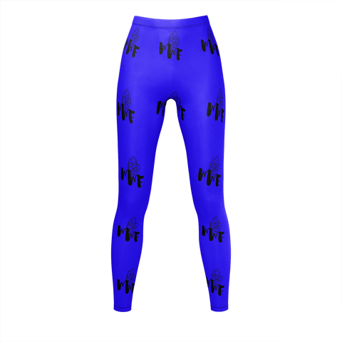 MMF Women Royal Blue/Black Leggings