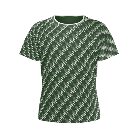 MMF Girl Green/White Short Sleeve Shirts