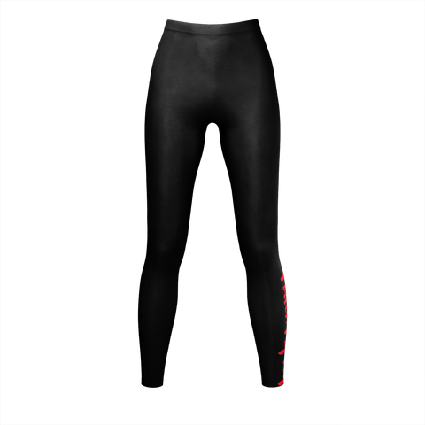 MMF Women Black/Red Leggings