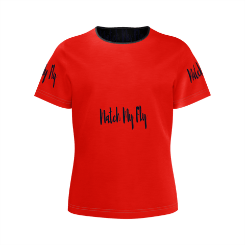 MMF Girls Red/Black Short Sleeve Shirts