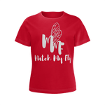 MMF Girl Crimson/White Short Sleeve Shirts