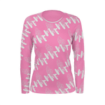 MMF Women Pink/White Long Sleeve Shirts