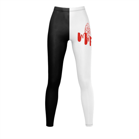 MMF Women Black/White/Red Leggings